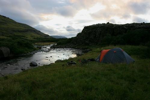 camping sunset 20d grass clouds canon river iceland tent 1740 hvalfjörður hvalfjordur 8092