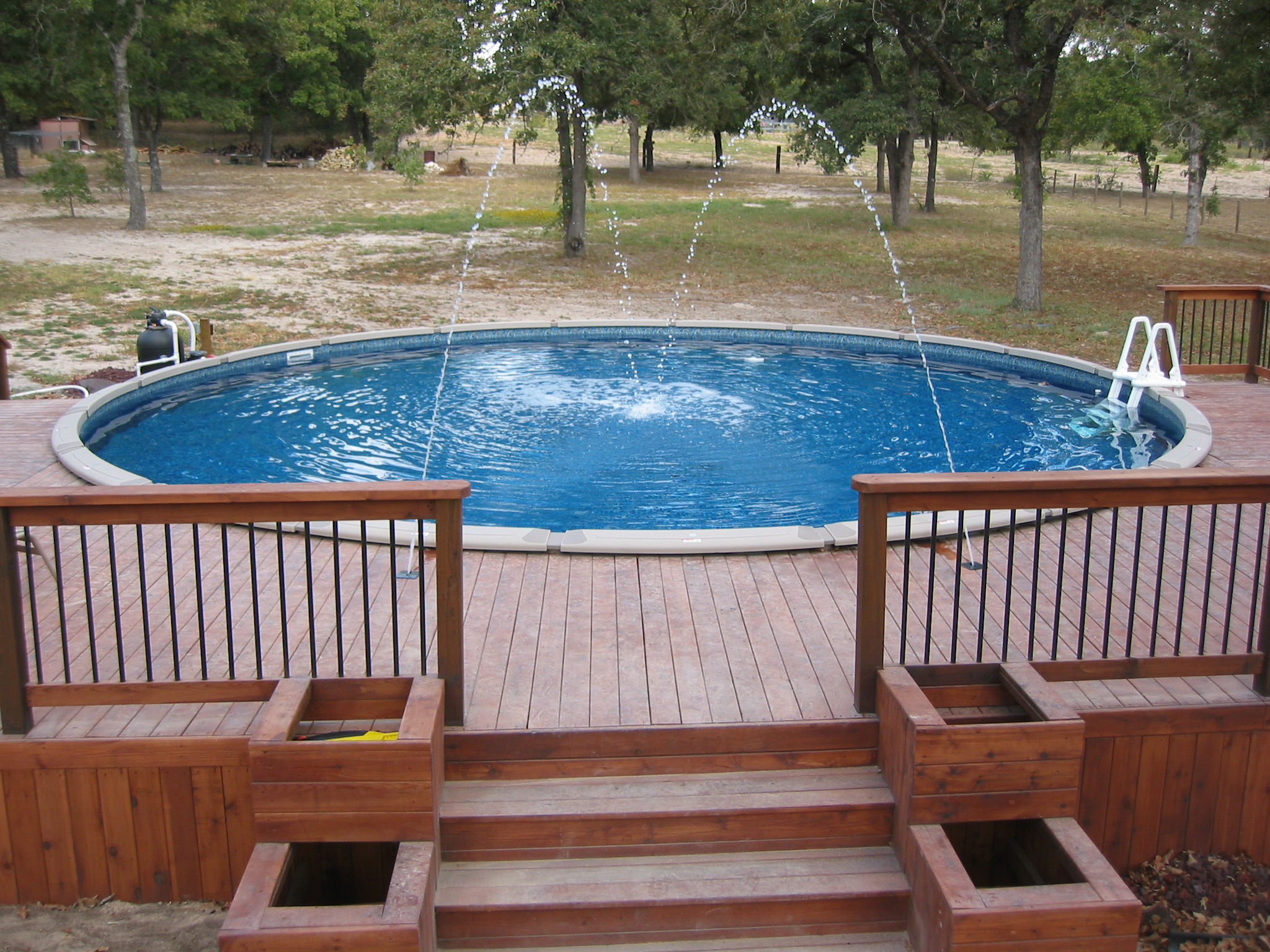 large round above ground pool wilson county 30 ft round flickr photo sharing. Black Bedroom Furniture Sets. Home Design Ideas