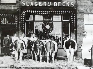 Slagerij Becks vlak na de oorlog
