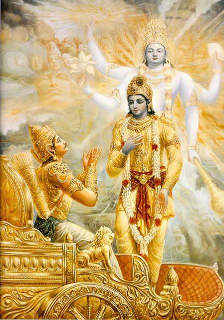 It appears in the Bhagawad Gita