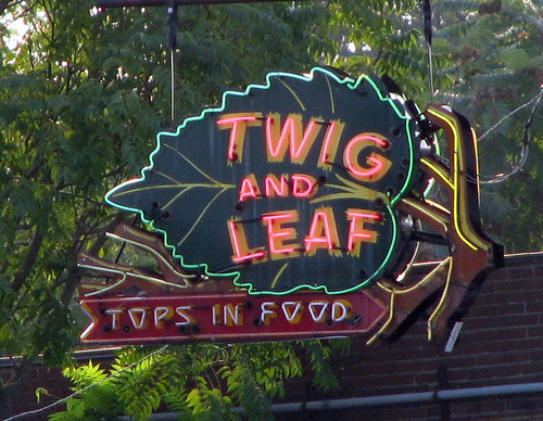 Twig and Leaf neon sign