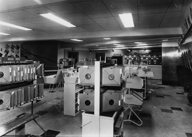 hmv 363 Oxford Street, London - vocal pops department 1950s