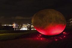Sculpture, Noah's Egg Night view