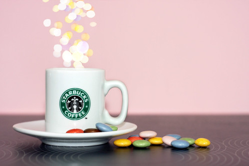 Coffee . Smarties . Bokeh