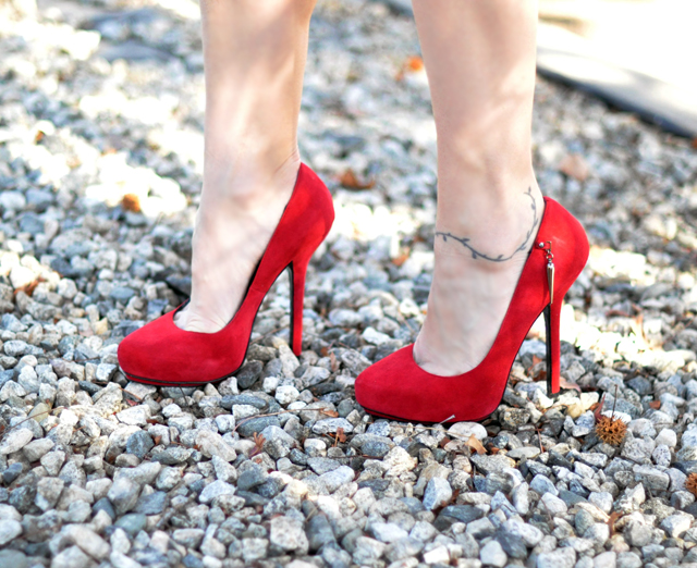 Rock a Republic red suede stilettos
