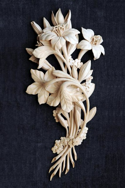 Lelies 2006 : Grinling Gibbons Style of Woodcarving by patrick Damiaens