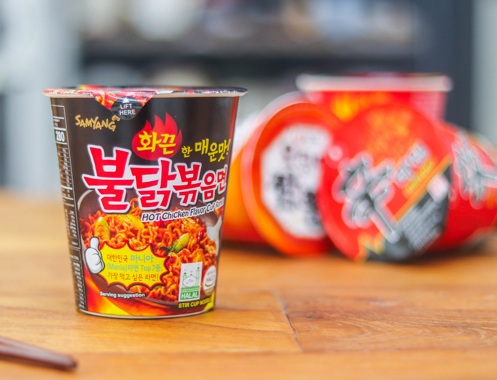 Korean Spicy Noodles Challenge: SAMYANG HOT CHICKEN FLAVOUR