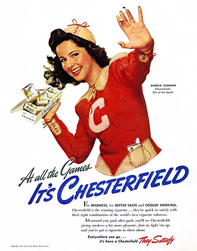 1941- At the Game - It's Chesterfield by clotho98
