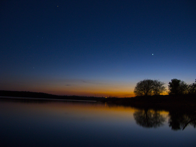 orion and venus setting