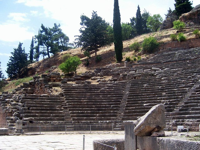 The Ancient Theatre,  built in the 4th century BC, Delphi
