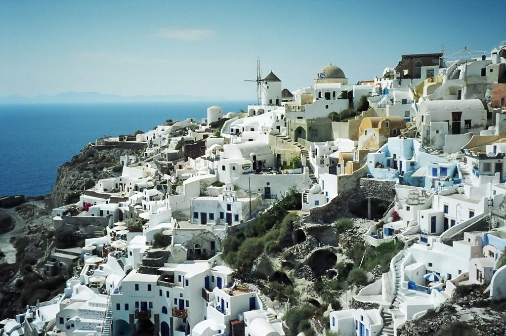 Stunning View of Oia, Santorini, Greek Island, Greece