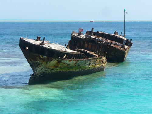Wreck at Heron Island