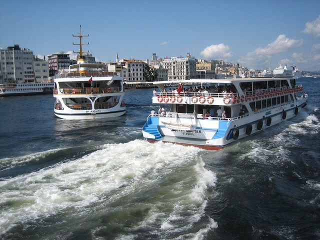 Crowded with Ferries