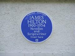 Photo of James Hilton blue plaque