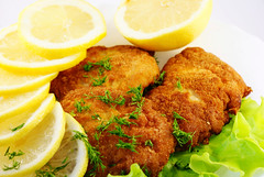 meal, breakfast, fishcake, fried food, crab cake, cutlet, fritter, schnitzel, produce, food, dish, cuisine, potato pancake, fast food,