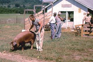 Jim Swiggum at Crawford County Fair (1957)