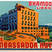Libia - Bhamdoun - Hotel Ambassador by Luggage Labels by b-effe