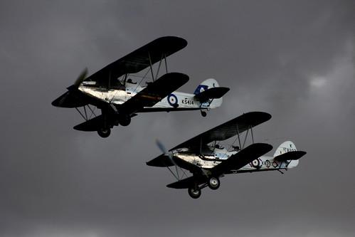 Hawker Demon K8203 & Hawker Hind K5414