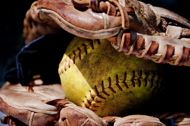 Softball and glove tumblr