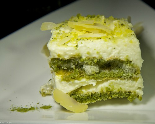 Edible Organic Green Tea Orange Tiramisu