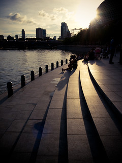 sunset at esplanade