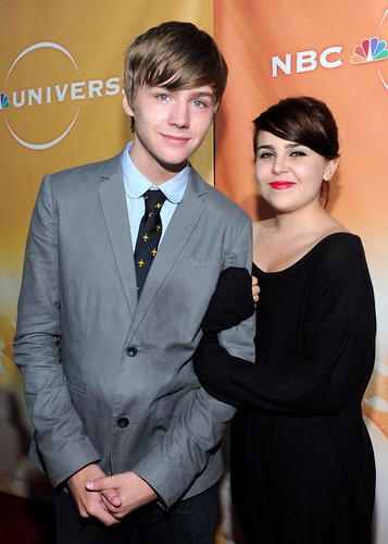 Miles Heizer and Mae Whitman at NBC Summer Party 2010