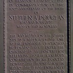 Stephen A. Douglas Birthplace – 100th Anniversary Memorial plaque