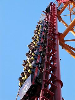 Image of The Bat. ride bat rollercoaster wonderland themepark boomerang vekoma