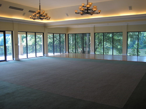 where the reception would be... windows on 2+ walls. the dancefloor is over there across the room on the far side