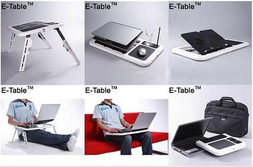 Dissipatore notebook da letto tavolino porta pc computer - Tavolino per pc ...