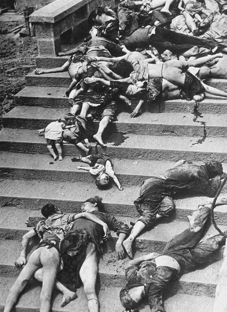 Casualties of a mass panic; during Japanese air raid, 4,000 people were trampled or suffocated to death trying to return to shelters. Chungking, China, June 5, 1941
