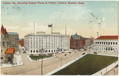 Copley Sq., Showing Copley Plaza & Public Library, Boston, Mass. [front]