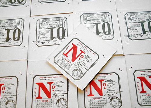 Letterpress coasters are coming home...