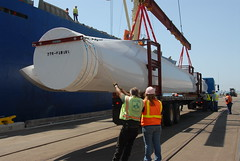 Mitsubishi wind blades arrive at the Port of San Diego