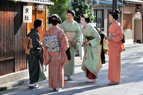 Greeting of people in Kyoto