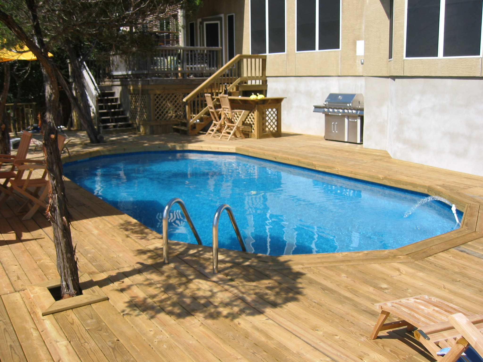 decked oval above ground pool san antonio tx flickr photo sharing. Black Bedroom Furniture Sets. Home Design Ideas
