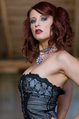 lingerie top, hairstyle, model, clothing, hair, fashion, photo shoot, brown hair, beauty, corset,