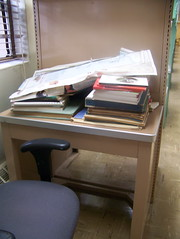 Metal study desk, October 2009