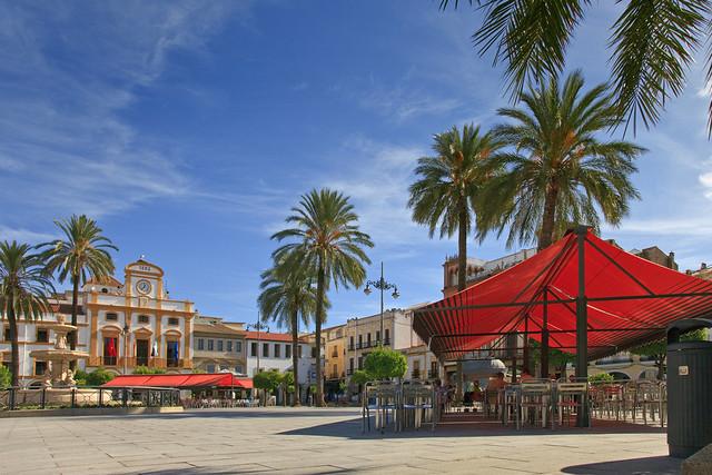 Mérida. Mayor square. Badajoz. Extremadura. Spain