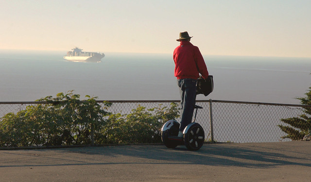 Man on Segway, Sutro Park (2008)