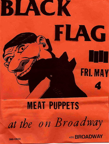 Black Flag, Met Puppets punk hardcore flyer