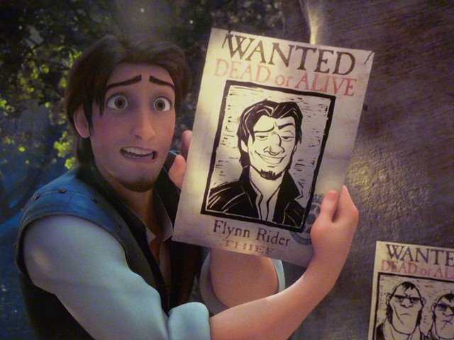 Flynn Rider Wanted Poster http://www.flickr.com/photos/partyhare/4932865635/