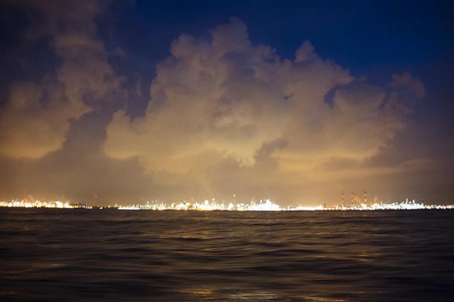 Emissions over Jurong Island