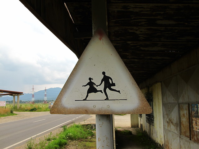 "Warning Sign ""Children"" between Braşov and Sânpetru"
