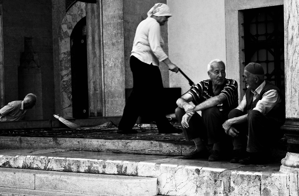 Elderly people at the Mosque