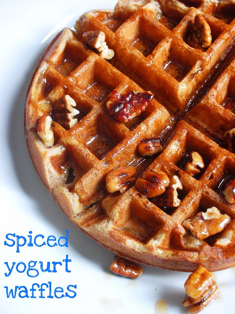 spiced yogurt waffles with toasted pecan maple syrup | Flickr - Photo ...
