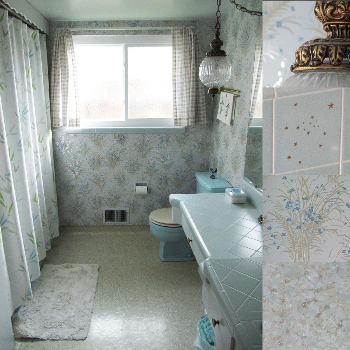 Shirley Shirley Bo Birley Retro Blue Bathroom