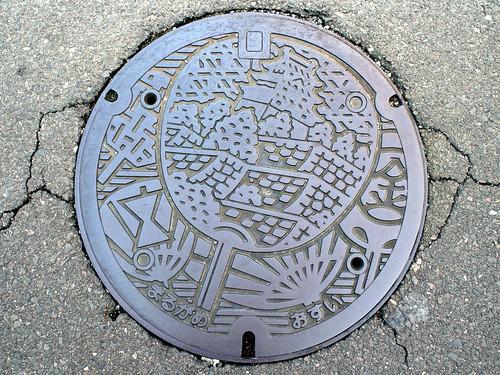 Marugame Kagawa manhole cover(香川県丸亀市のマンホール)