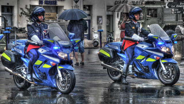 Gendarmerie Nationale Motorcycles⌠HDR⌡- Yamaha FJR1300 – La Rochelle | 10000 Views on My Flickr