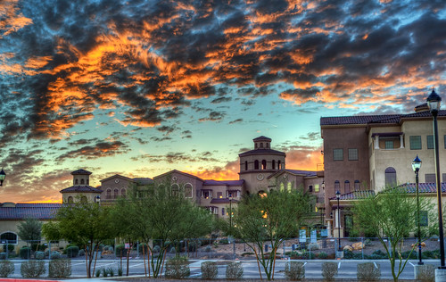 sunset arizona building architecture clouds nikon day glendale cloudy az paintshoppro hdr topaz photomatix d700 zanjero